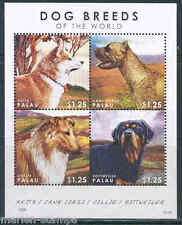 PALAU 2012 DOG BREEDS OF THE WORLD  SHEET  MINT NH
