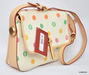 Nwt Dooney & Bourke Mini Bubbles E/W Flap Shouder Bag Hobo Handbag Tote ~Ivory