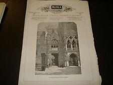 1874 ANTOLOGIA ILLUSTRATA ROMA PALAZZO DUCALE VENEZIA PONTE CARLO ALBERTO SAVOIA