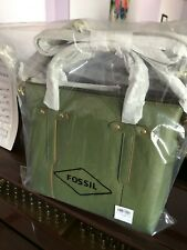 NWT $178 Fossil Felicity Satchel Bag Leather Chive Green Crossbody Handle