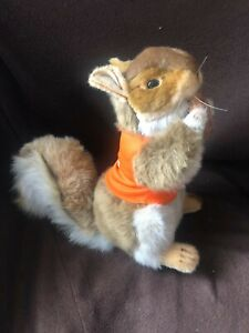 Hansa Brand Squirrel, with nut, with Bankwest vest.