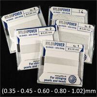 NylonPower FIL DE Nylon EXTRA FORT avec Aiguille intégrée 2m Epaisseur aux choix
