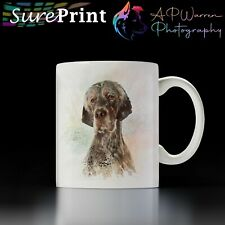 More details for english setter watercolour mug / selection of coloured mugs to choose from