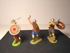 Elastolin 7cm-70mm Pro-Painted Vikings, Total 3 Figures,