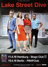 LAKE STREET DIVE - 2016 - Konzertplakat - Side Pony - Tourposter - Hamburg