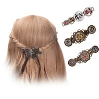 Vintage Steampunk Alloy Gear Women's Hair Pin Hairclip Retro Barrette 4 Patterns
