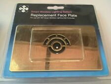Polished Brass 2 Gang Smart Wireless Lighting system Replacement Face Plate Gold