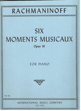 RACHMANINOFF SIX MOMENTS MUSICAUX OP 16 PIANO INTERNATIONAL-MUSIC BOOK-BRAND NEW