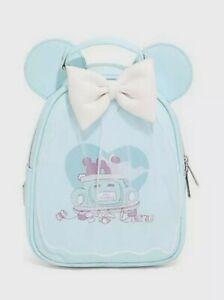 Loungefly Disney Mickey Minnie Wedding Figural Backpack Just Married Disneyland