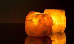 Himalayan T-light Holder Salt Candle Holder Lamp Made By Himalayan Crystal Salt