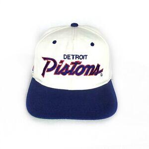 Vintage Detroit Pistons Sports Specialties Snapback Hat Cap NBA