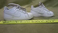 White leather 7C  Nike Brand Tennis Shoes: 344896-111. Used Child Baby Sneakers