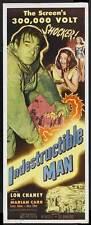 INDESTRUCTIBLE MAN Movie POSTER 14x36 Insert Ross Elliott Ken Terrell Robert