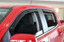 In-Channel Wind Deflectors for a 2015 - 2018 GMC Canyon Crew Cab