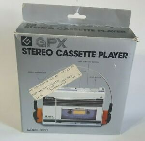 Vtg 80's GPX Stereo Mini Hi-Fi Cassette Player Model 3030 Original Packaging
