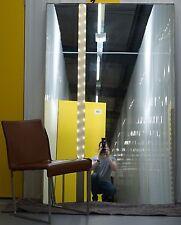 LARGE CHROME FRAMED FULL SIZED MIRROR BACK LIGHT 187 CM X 120CM FLOOR STANDING