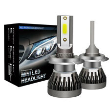 2 x H7 LED Headlight Conversion Kit COB Bulb 800W 30000LM White High Power 6000K