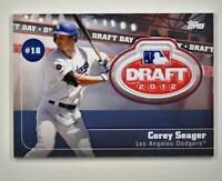 2020 Topps Series 2 Draft Day Medallion Red #DDM-CS Corey Seager 1/10