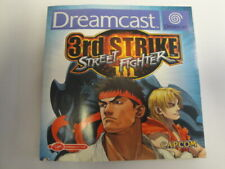 STREET FIGHTER III 3RD STRIKE INSTRUCTION MANUAL.DREAMCAST. PAL. BOOKLET