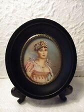 Ancienne peinture miniature portrait de l'Impératrice Joséphine