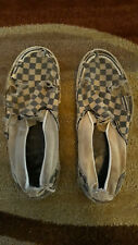 Rare Vintage Vans Black and White Checkered Size 10
