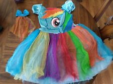 My Little Pony Rainbow Dash Girls Halloween Costume/ Dress up size Medium 7-8