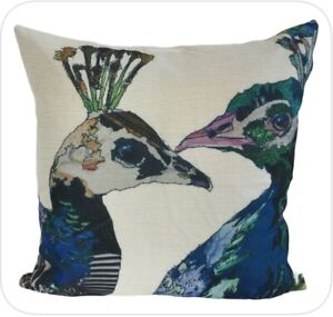 "Feature Cushion Cover - 45cm Square - Peacock - Kushun - 18"""