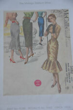 The vintage pattern shop reproduced McCalls sewing pattern skirt waist 24