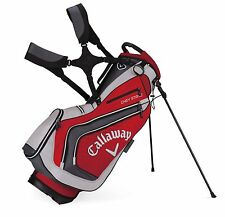 Callaway Chev Kick Stand Bag Golf Red/Charcoal Duel Strap NEW