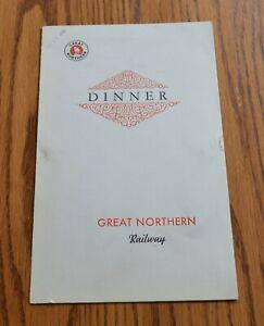 Jan 231935 Great Northern Railroad Dining Car Menu Forward Facing Goat