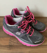 Skechers Women's Tone Ups Fitness Pink Grey Trainers UK 5