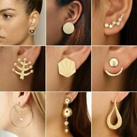 Boho Women Simple Geometric Circle Ear Stud Drop Dangle Earrings Charm Jewellery