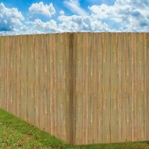 4M Bamboo Slat Natural Garden Screening Fencing Fence Panel Privacy Screen Roll