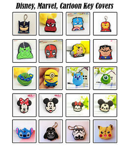 Cartoon Key Covers, Key Cap, Key Holder -  20 Styles - Fast and Free Post