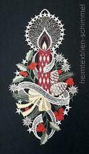 PLAUENER SPITZE ® Fensterbild WEIHNACHTEN Winter KERZE Dekoration Weihnachtsdeko