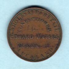 New Zealand - Token. Waters c1870s 1d..  Auckland..  aVF