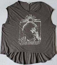 Jimi Hendrix Kiss The Sky Female Size Small Sleeveless Gray T-Shirt