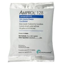 Amprol 128 Amprolium(Ampromed) 20% Soluble Powder Coccidiosis 10oz Treats 128gal