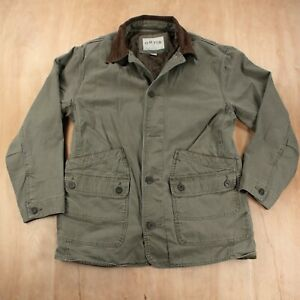 ORVIS quilt lined canvas barn chore coat jacket LARGE green