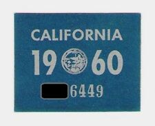 1960 California Sticker, Slightly Trimmed, Authentic