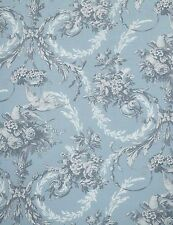 French Country Toile Doona Duvet Queen Quilt Cover + 2 Pillow Shams Soft Blue