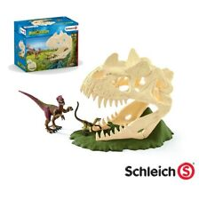 Schleich Dinosaurs Large Skull Trap with Velociraptor & 2 Figures - 42348 - NEW