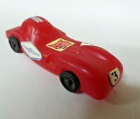 """Vintage JVC Co. Plastic Toy Race Car Cereal Premium Toy Red 3"""" Long"""