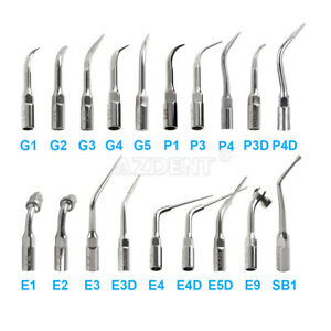 Dental Ultrasonic Scaler Endo Perio Scaling Tips Fit EMS & WOODPECKER 17 Types