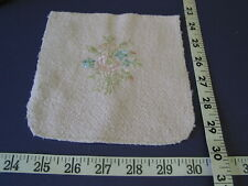 4152 Embroidered Pink Terry Squares 96 Pcs Unique for Quilts .Sale Lot