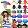 Umbrella Hat Rain Fishing Dry Cover Heat Adjustable Rainbow Face Ear Folding Cap