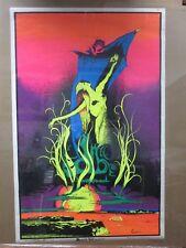 Large Vintage Black Light Poster 1971 Devil Woman  Inv#G1346