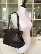 Henry Cuir Beguelin Dark Brown Leather Tote Bag
