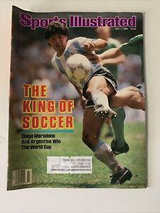 July 7, 1986 Diego Maradona Argentina World Cup Soccer Futbol Sports Illustrated