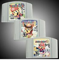 Mario Party 1 2 3 Video Game All 3 in a lot!  US Version For Nintendo N64